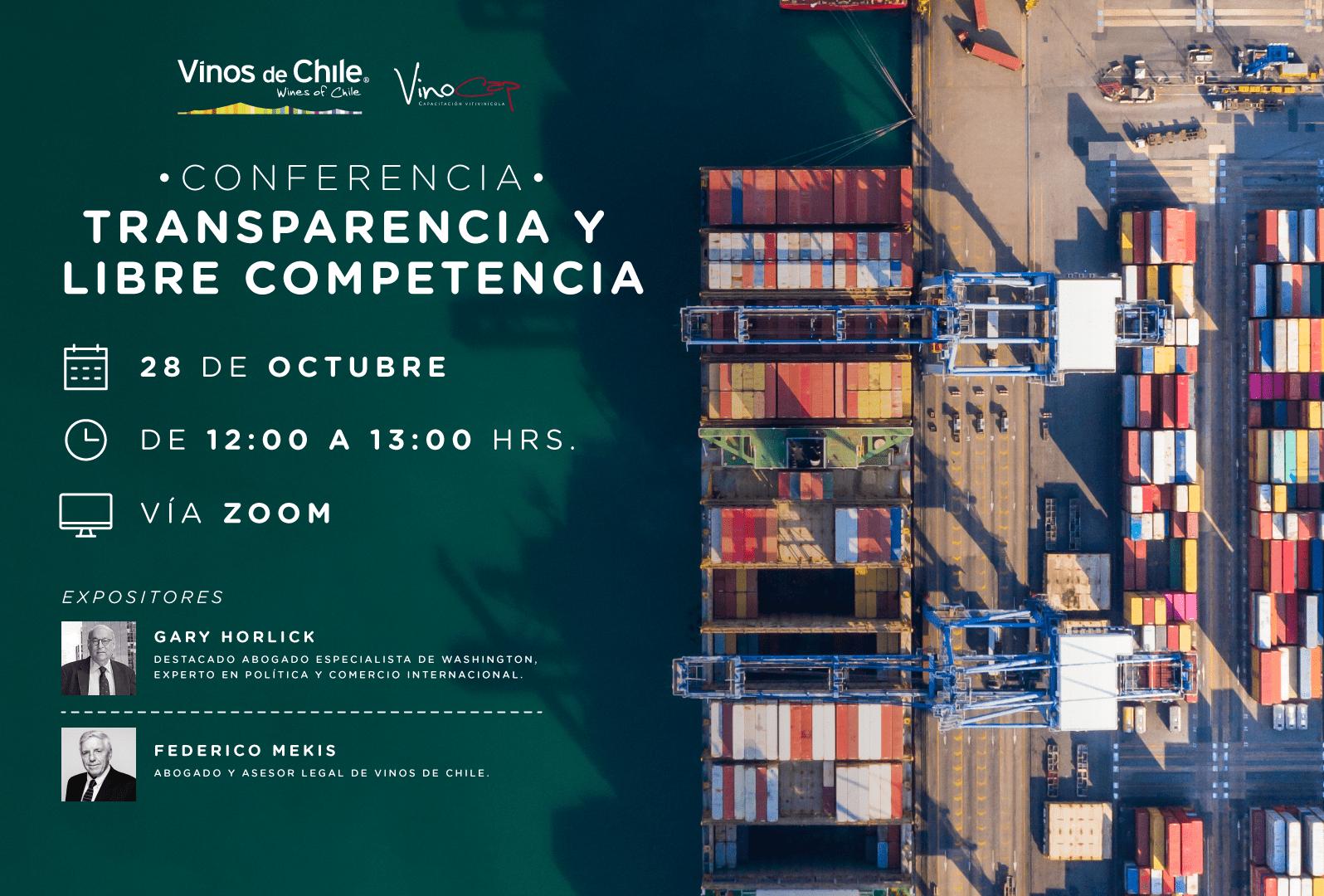 Apertura de inscripciones: Conferencia Transparencia y Libre Competencia
